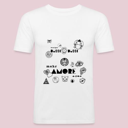 Mucbook Amore Katharina Konte - Männer Slim Fit T-Shirt