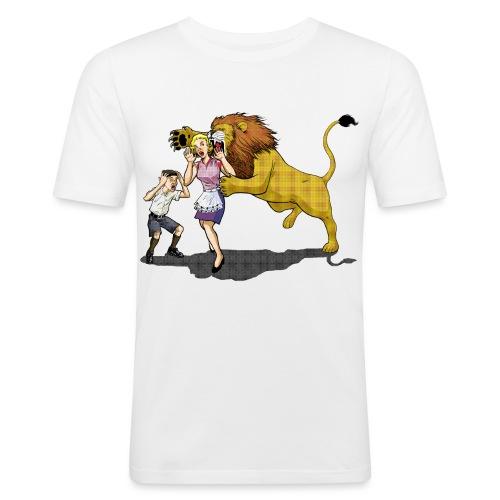 LION ATTACK! - Men's Slim Fit T-Shirt