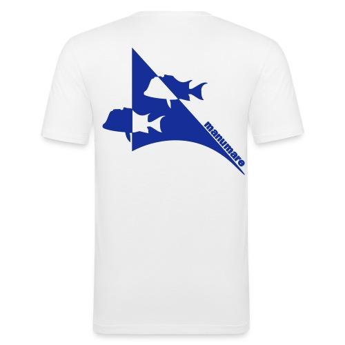 manumare_smoki_im_pfeil - Männer Slim Fit T-Shirt