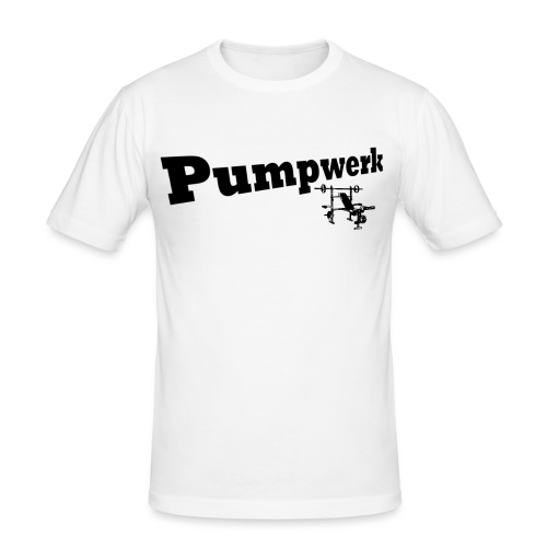 Pumpwerk bench black - Männer Slim Fit T-Shirt