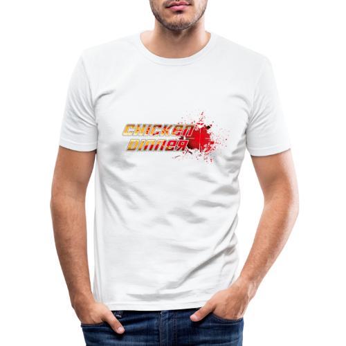 Chicken Dinner - Männer Slim Fit T-Shirt