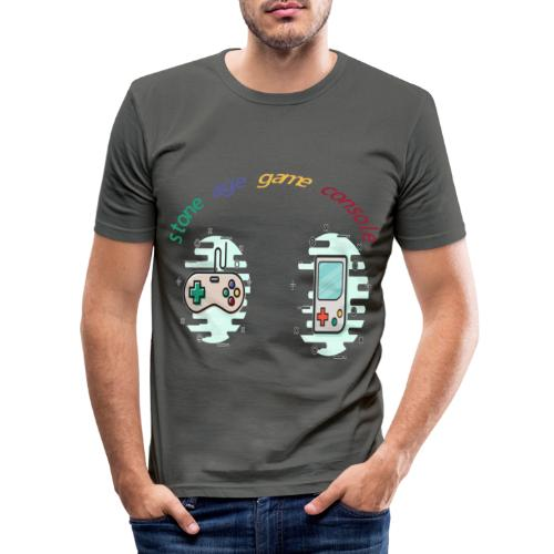 Retro Gaming Tribute - Männer Slim Fit T-Shirt