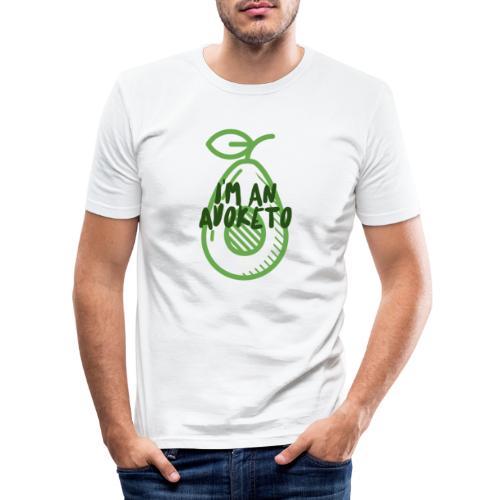 Witziges Keto Shirt Frauen Männer Ketarier Avocado - Männer Slim Fit T-Shirt