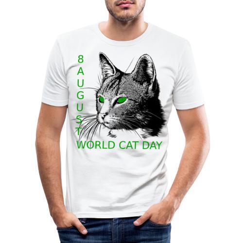 Gatto, 8 agosto la sua giornata mondiale - Maglietta aderente da uomo