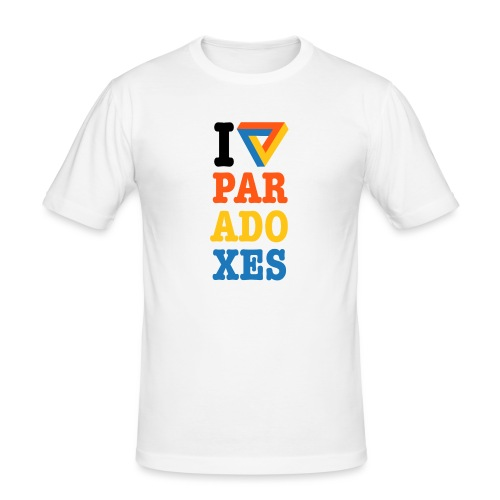 I love paradoxes - Men's Slim Fit T-Shirt