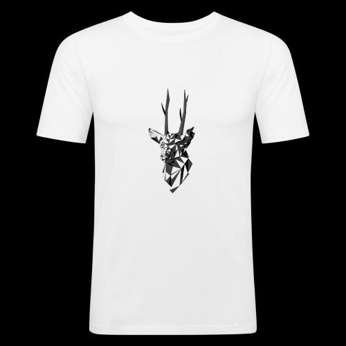 Polygoon Hert - Mannen slim fit T-shirt