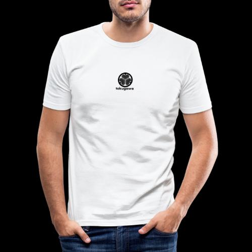 tokugawa mon with title - Men's Slim Fit T-Shirt