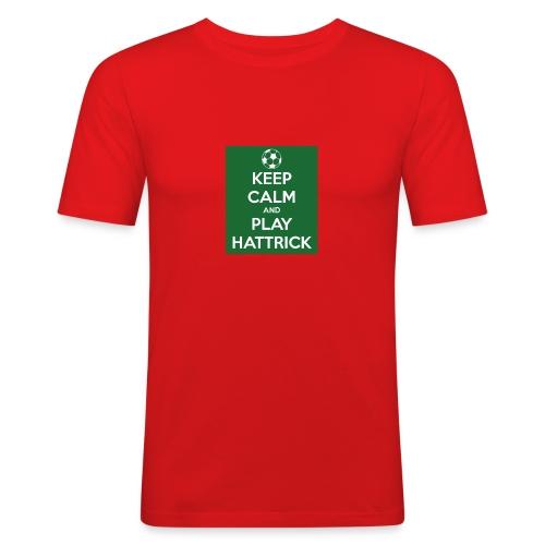 keep calm and play hattrick - Maglietta aderente da uomo