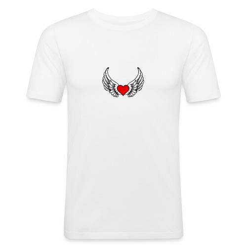 corazon-bonito-para-imprimir-png - Camiseta ajustada hombre