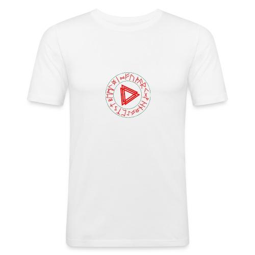 Runen Kreis - Männer Slim Fit T-Shirt