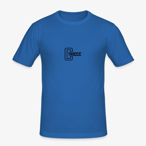 thiccc logo White - Men's Slim Fit T-Shirt