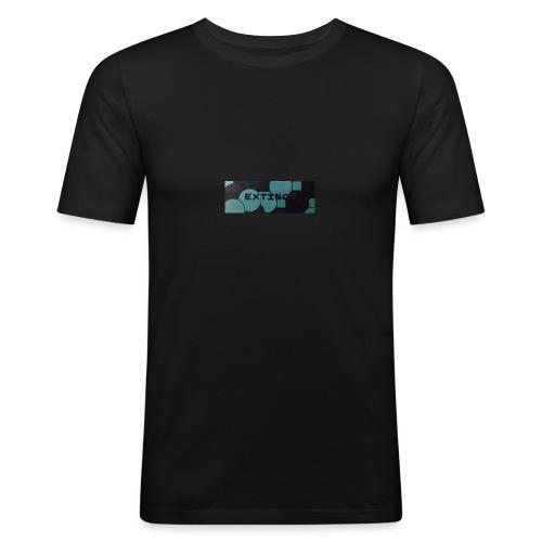 Extinct box logo - Men's Slim Fit T-Shirt