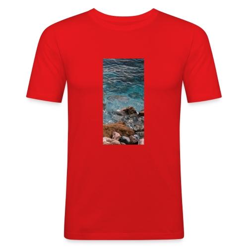 iPhone 4/4s Hard Case mit Wellenmotiv - Männer Slim Fit T-Shirt