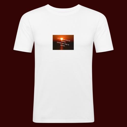 quote1 - Mannen slim fit T-shirt