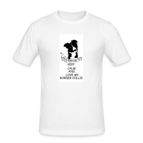 border_collie - Slim Fit T-shirt herr