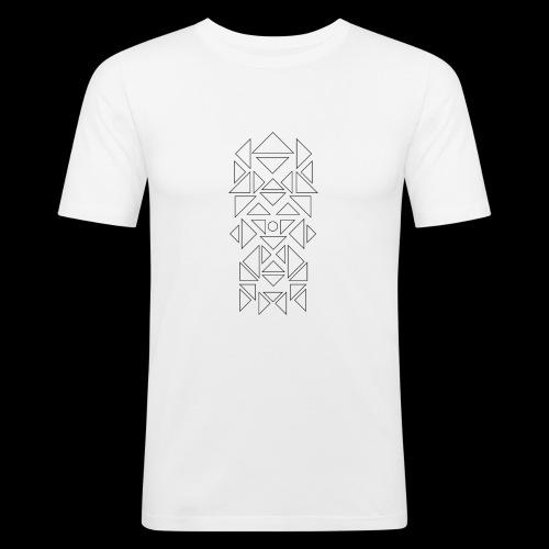 Triangles Pattern - Mannen slim fit T-shirt