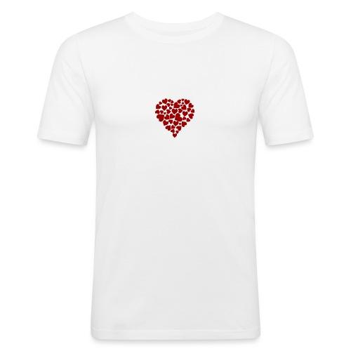 Corazoncitos - Camiseta ajustada hombre