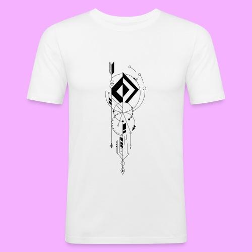 la vie - T-shirt près du corps Homme