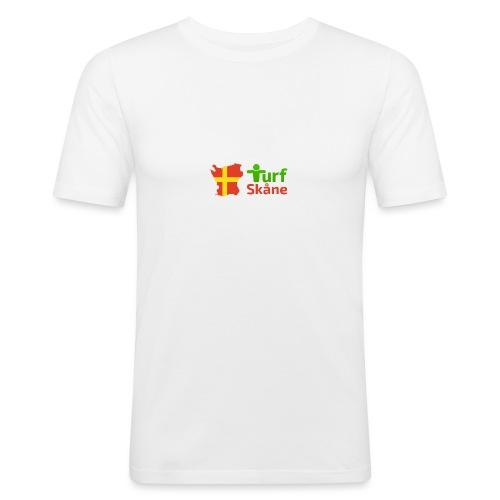 Turf Skåne Logo röd - Slim Fit T-shirt herr