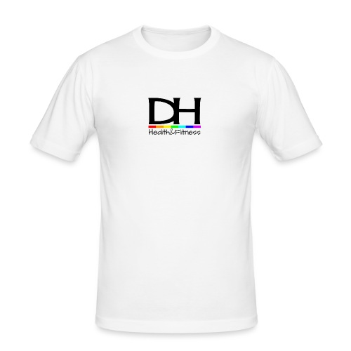DH Health&Fitness Large logo - Men's Slim Fit T-Shirt
