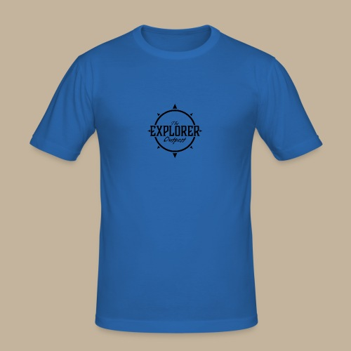 Black TEO Logo - Men's Slim Fit T-Shirt