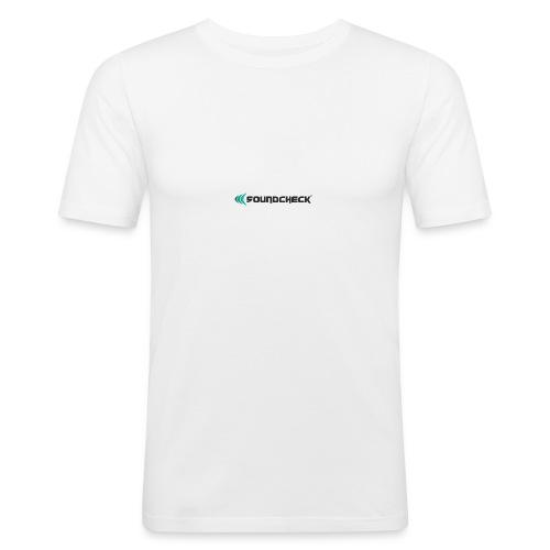 Soundcheck Logo - Männer Slim Fit T-Shirt