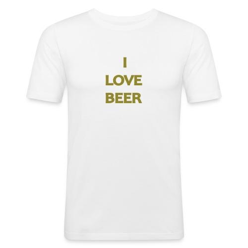 I LOVE BEER - Maglietta aderente da uomo