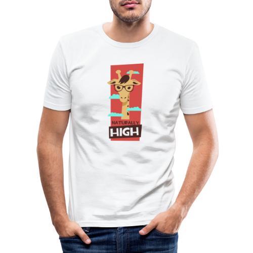 naturally high - Männer Slim Fit T-Shirt