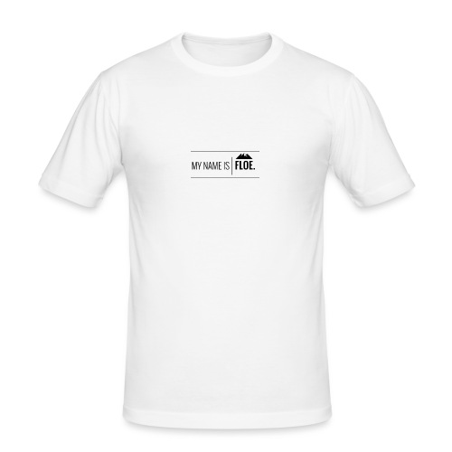 My name is FLOE. - Mannen slim fit T-shirt