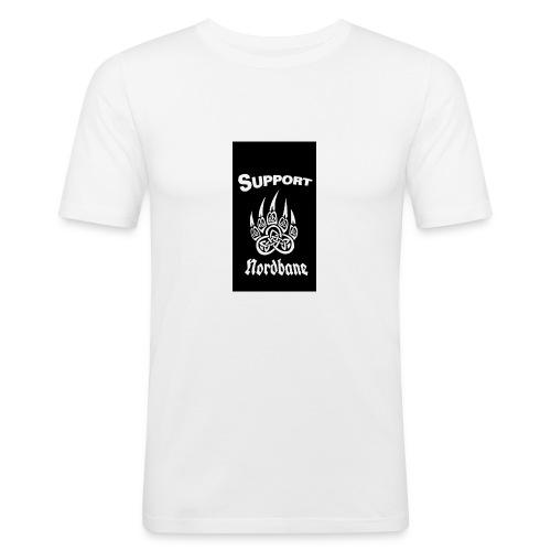 Support Nordbane - Slim Fit T-shirt herr