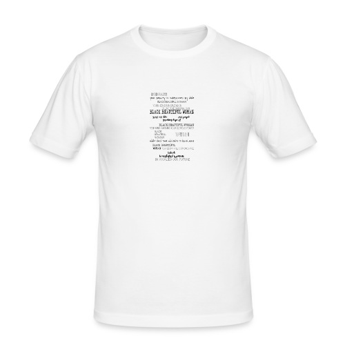 Beautiful Black Woman - Men's Slim Fit T-Shirt