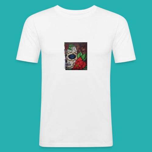 flower-skull - Men's Slim Fit T-Shirt