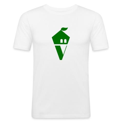 Villekula Logo in Grün auf Schwarz - Männer Slim Fit T-Shirt
