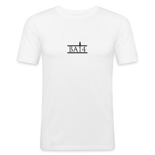 BA14 White - Men's Slim Fit T-Shirt