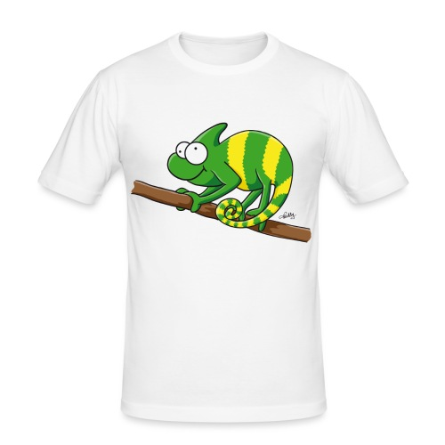 chamaeleon - Männer Slim Fit T-Shirt