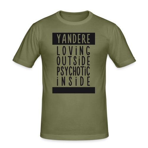 Yandere manga - Men's Slim Fit T-Shirt