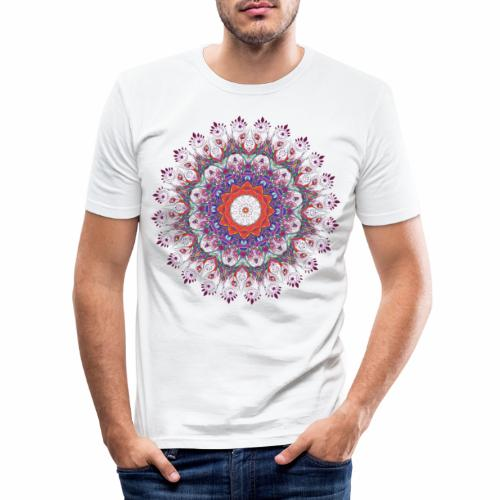 Orange mandala - Herre Slim Fit T-Shirt