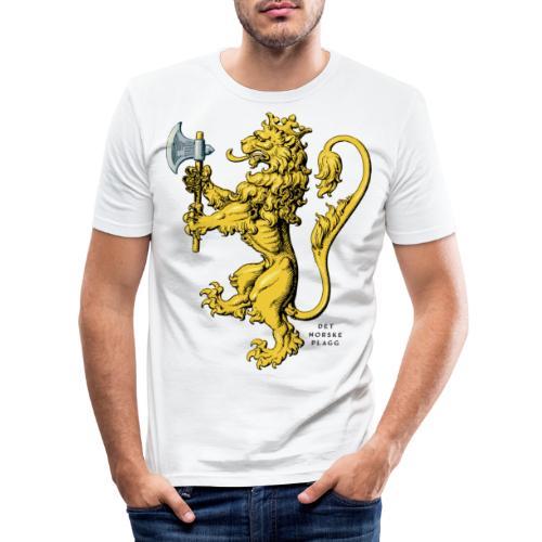 Den norske løve i gammel versjon - Slim Fit T-skjorte for menn