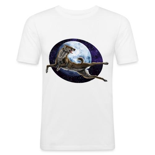 Galaxy Wolf - Männer Slim Fit T-Shirt