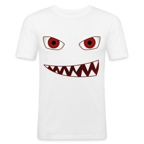 smiling devil emoticon grinning red demon - Männer Slim Fit T-Shirt