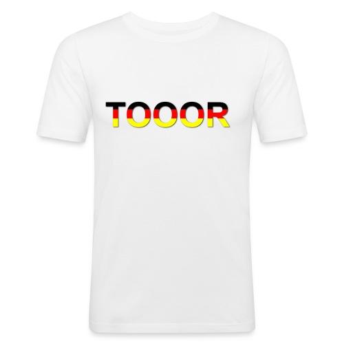 TOOOR-Schatten-transparen - Männer Slim Fit T-Shirt