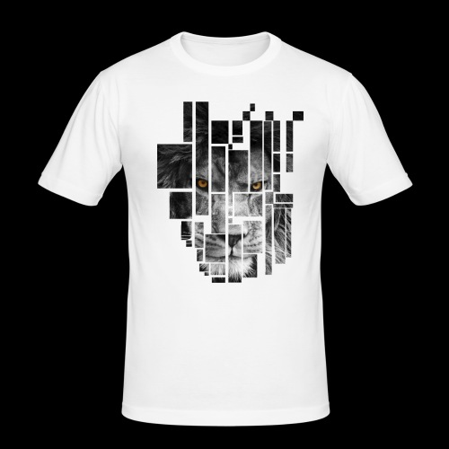 Pixel Lion Tattoo Inspire - Men's Slim Fit T-Shirt