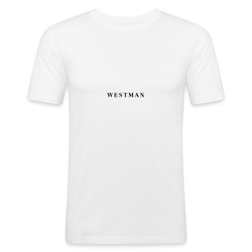 Black Westman - Mannen slim fit T-shirt