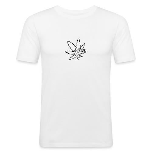 liść marihuany - Obcisła koszulka męska