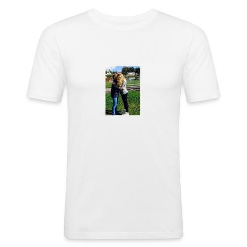 MathildeElskerDeg-jpg - Slim Fit T-skjorte for menn