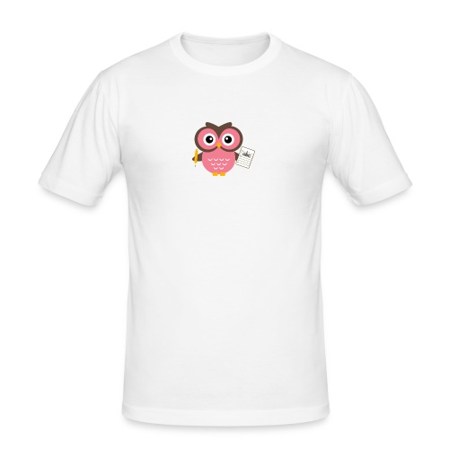 Back to School Owl - Men's Slim Fit T-Shirt