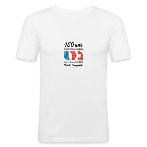 Logo 450 ans d'amitié franco-suisse Saint-Gingolph - T-shirt près du corps Homme