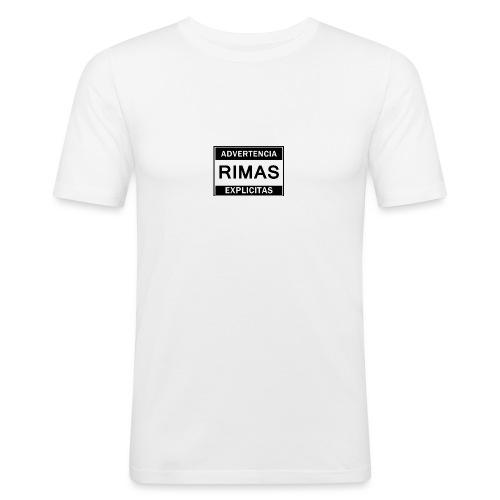 advertencia Rimas Explicitas - Camiseta ajustada hombre