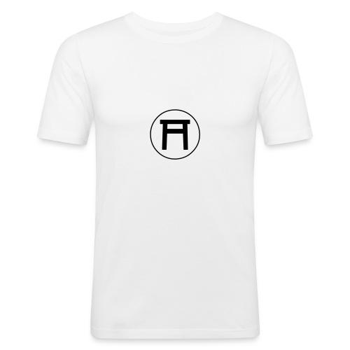 seishinkailogo mit ring vektor schwarz - Männer Slim Fit T-Shirt