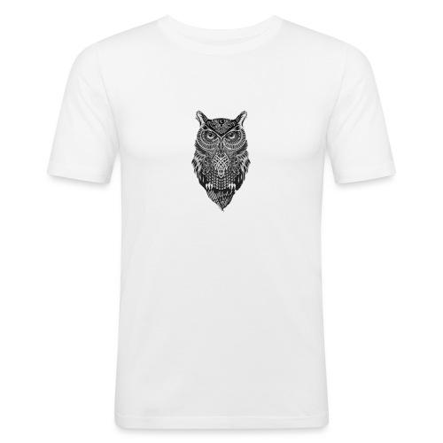 uil_groot - Mannen slim fit T-shirt